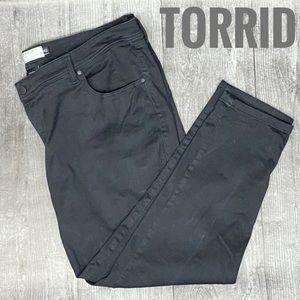 Torrid black straight leg jeans